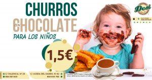 Chocolate con churros para niños Granada